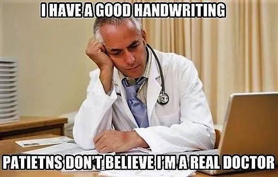 有些醫生是故意亂畫的